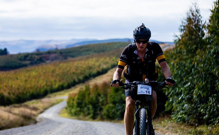 South African endurance cyclist Mike Woolnough claimed his fourth Race to Rhodes title