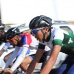 Yoel Tesfasilasie won the junior men's criterium on day two of the Oudtshoorn Youth Festival