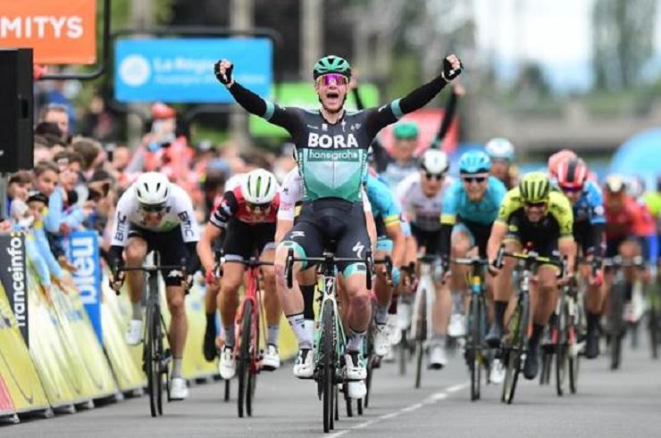 Ireland's Sam Bennett won stage three of the Criterium du Dauphine