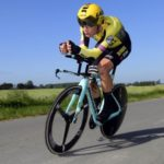 Wout van Aert won the time-trial at the Belgian Road Championships