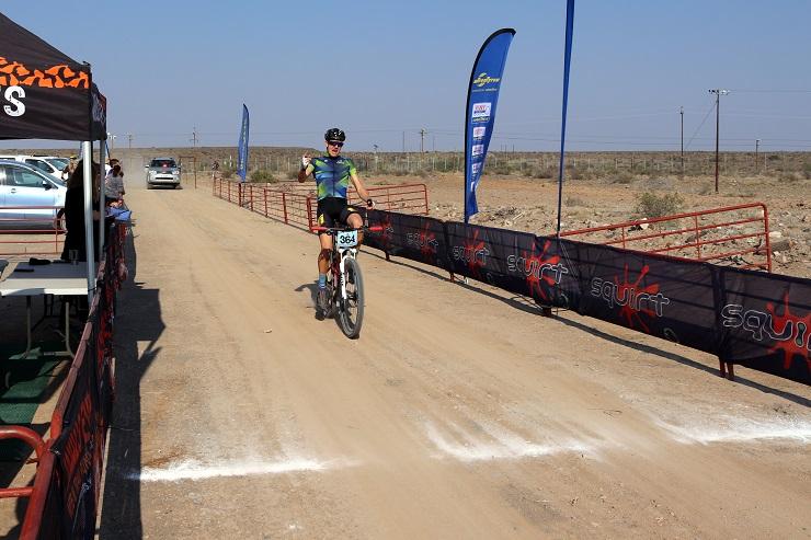 Immanuel Becker won the long tour men's race at the Sylvester MTB Challenge