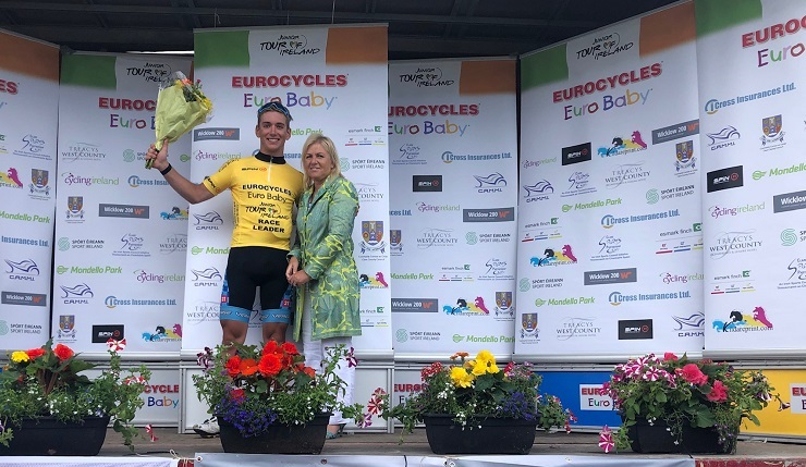 Magnus Sheffield is the race leader of the Junior Tour of Ireland