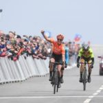 Marianne Vos, pictured winning this year's Tour de Yorkshire Women's Race