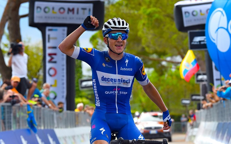 Remco Evenepoel won stage four of the Adriatica Ionica Race