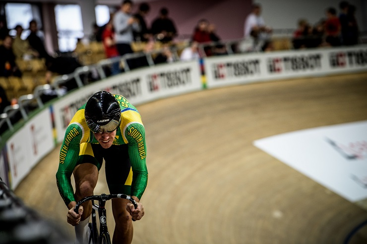 Jean Spies is now ranked second in the world for the 1km time-trial