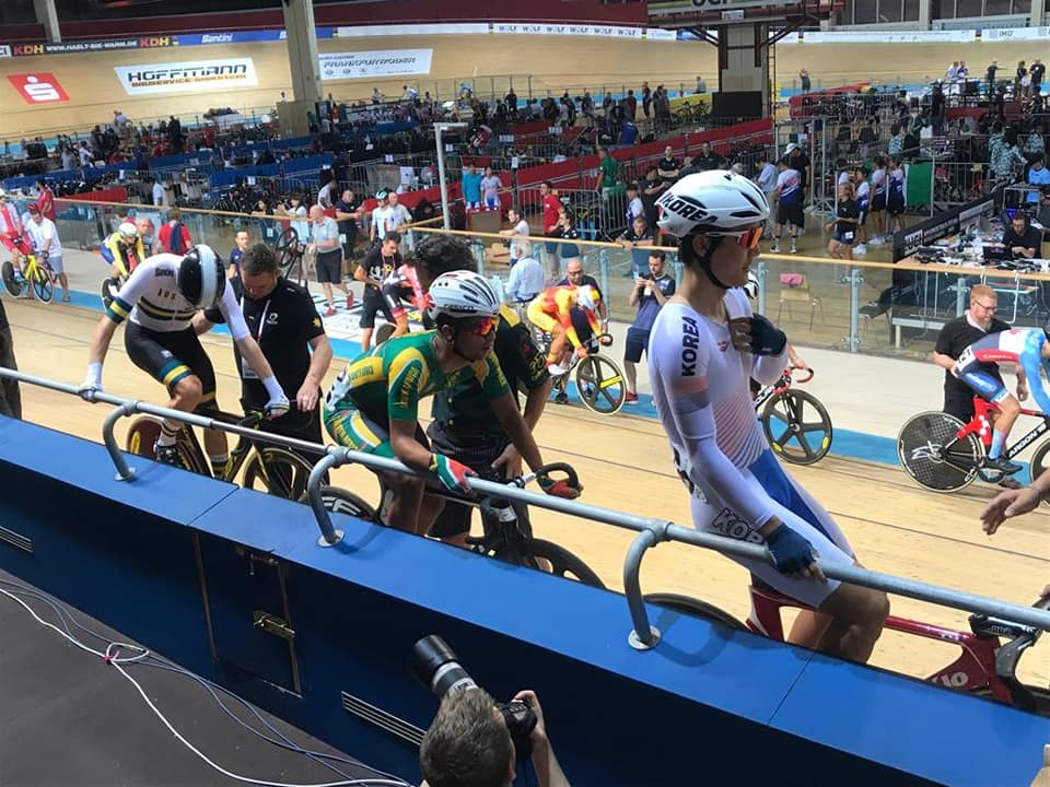 SA's Matthew Fortuin placed 23rd in the men's scratch race at the Junior World Track Championships