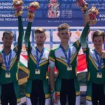 The South African men's team, who consisted of (from left to right) Jayde Julius, Kent Main, Jason Oosthuizen and Ryan Gibbons, won the team time-trial at the African Games