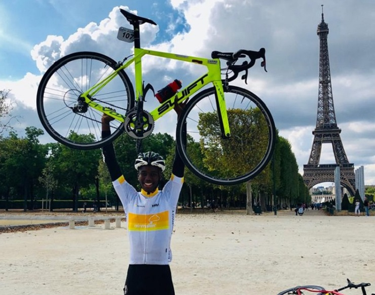 Kwano Academy rider Siphe Ncapayi was the overall U23 rider in the London-Paris