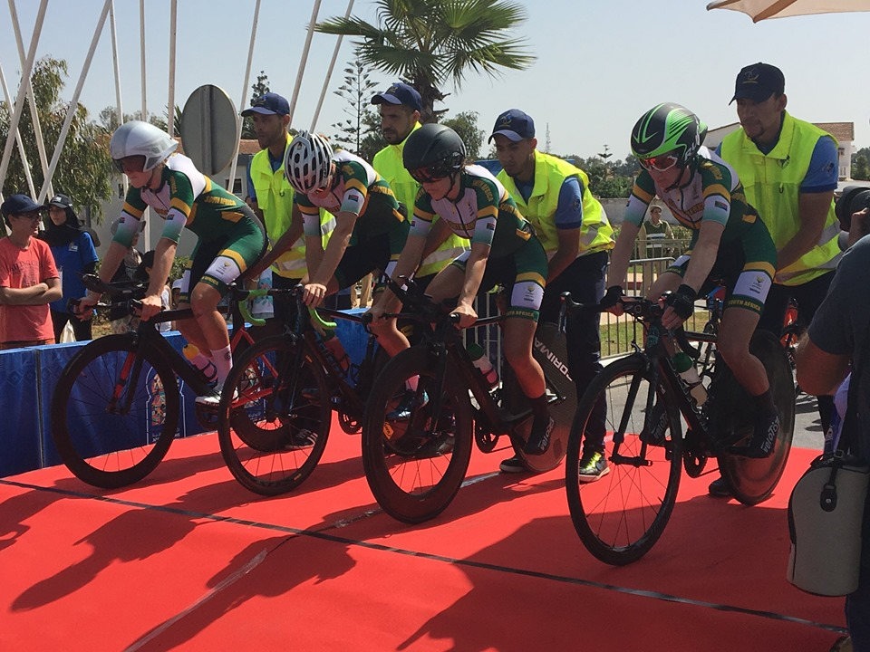Team South Africa won the women's time-trial at the African Games