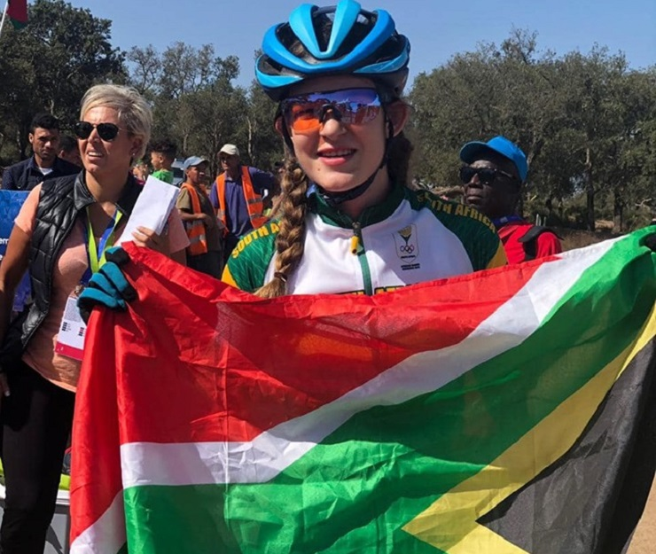 Tiffany Keep, 18, won South Africa's first gold medal at this year's African Games