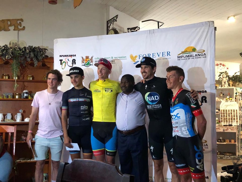 Alex Worsdale (in yellow) won the Mpumalanga Tour