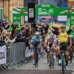 Dylan Groenewegen won stage three of the Tour of Britain