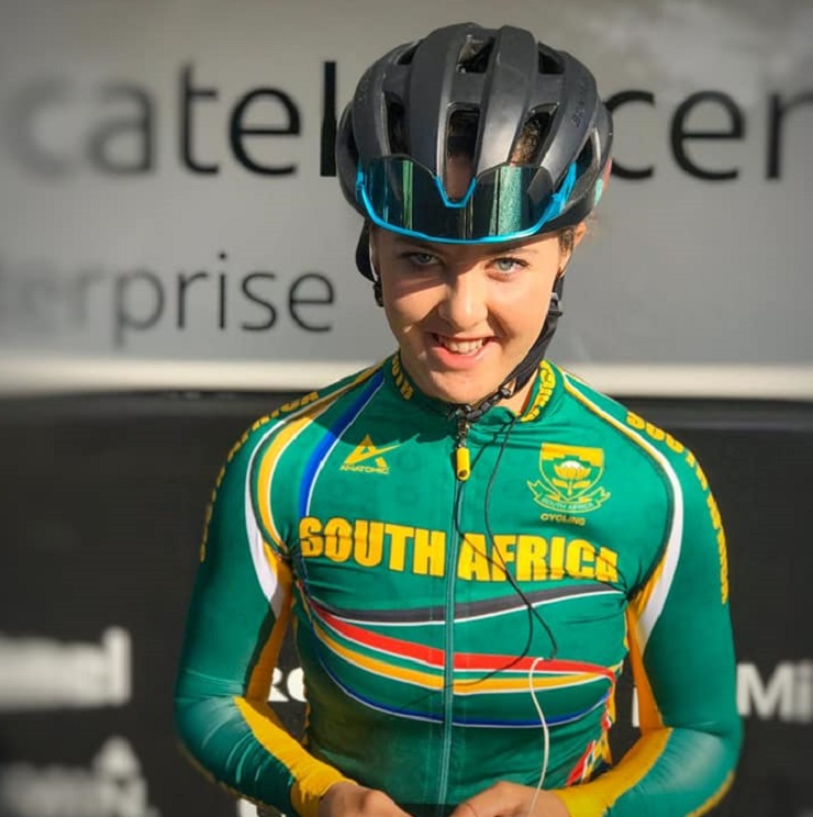 Frances Janse van Rensburg placed 12th in the junior women's individual time-trial at the UCI Road World Championships