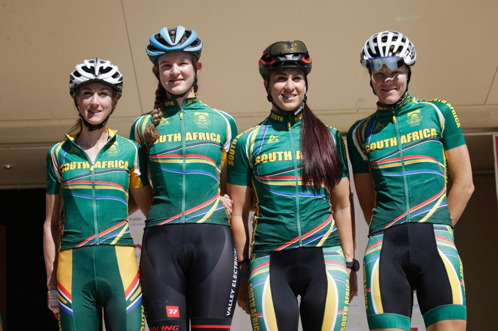 Joanna van de Winkel (far left) gained valuable experience at the Tour Cycliste Feminin International de l'Ardeche