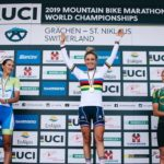 Pauline Ferrand-Prevot won the elite women's race at the UCI MTB Marathon World Championships