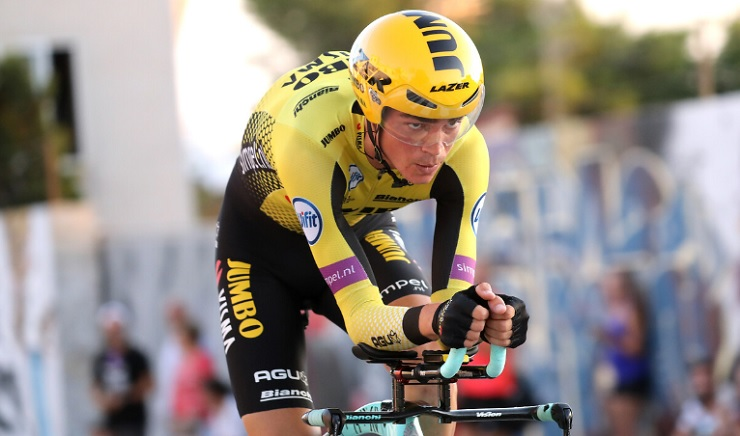 Primoz Roglic won the time-trial on stage 10 of the Vuelta a España