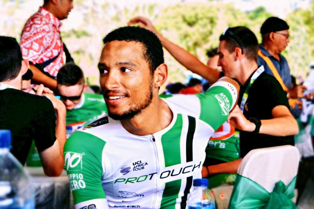 Reynard Butler claimed fourth place in stage three of the Tour of China