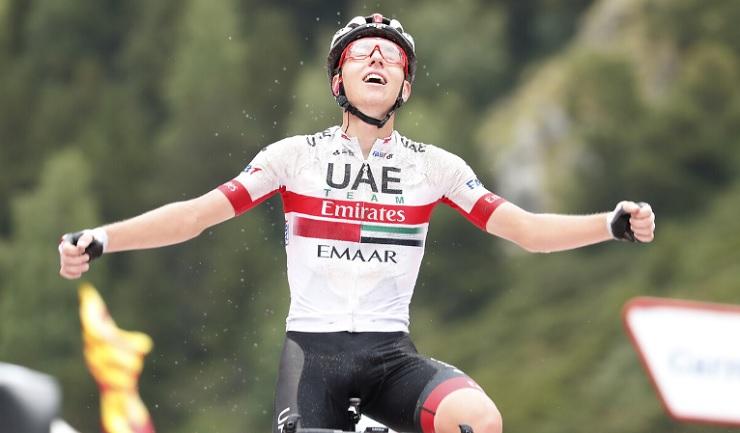 Tadej Pogacar won stage 13 of the Vuelta a España