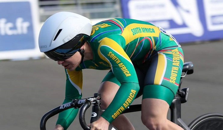 Charlene du Preez recently qualified for the 2019-2020 UCI Track World Cup season