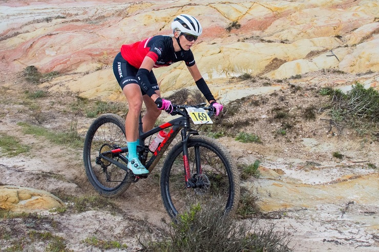 Lehane Oosthuizen during the Thys Du Toit Memorial MTB Challenge Hopefield