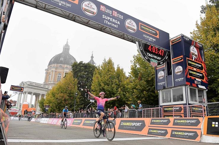 Michael Woods won the Milano-Torino