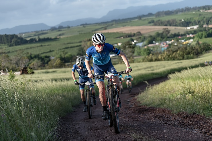UCT's Richard Simpson (front) and Michael Lambrecht won stage two of the Varsity MTB Challenge