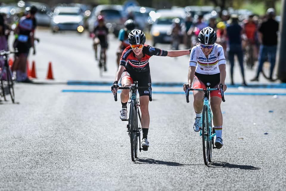 Carla Oberholzer (left) aims to successfully defend her title in the 947 Ride Joburg