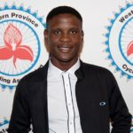 Nicholas Dlamini was one of the road cyclists who received an award at a Western Province Cycling Association dinner