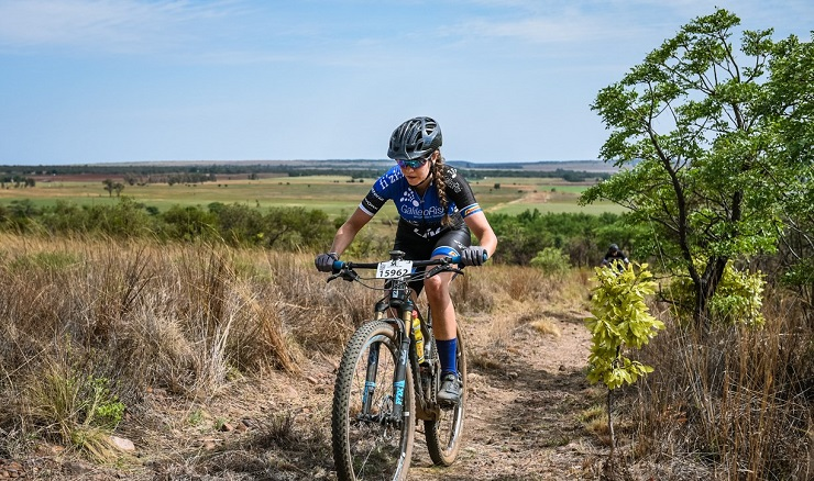 Sarah Hill surprised herself with her ability to bounce back so quickly when she placed second in the 947 Ride Joburg MTB race