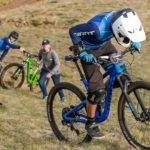 One of the men's riders during day three of the Maluti Mountain Bike Festival