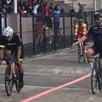 South African Rudie Kellerman won the keirin at Paarl Boxing Day