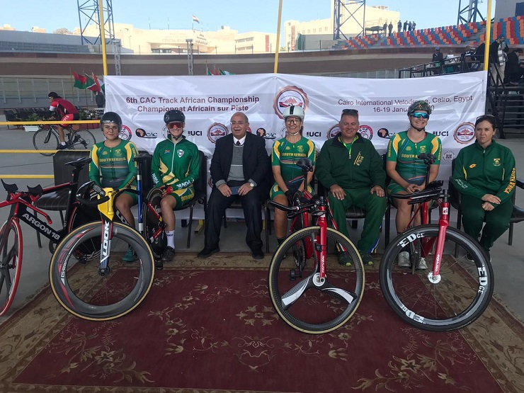 The SA elite women's squad won gold in the team pursuit on day one of the African Track Continental Championships
