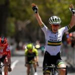 Australian Amanda Spratt won stage two of the Women's Tour Down Under