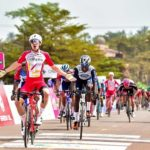 Attilio Viviani won stage one of the Tropicale Amissa Bongo