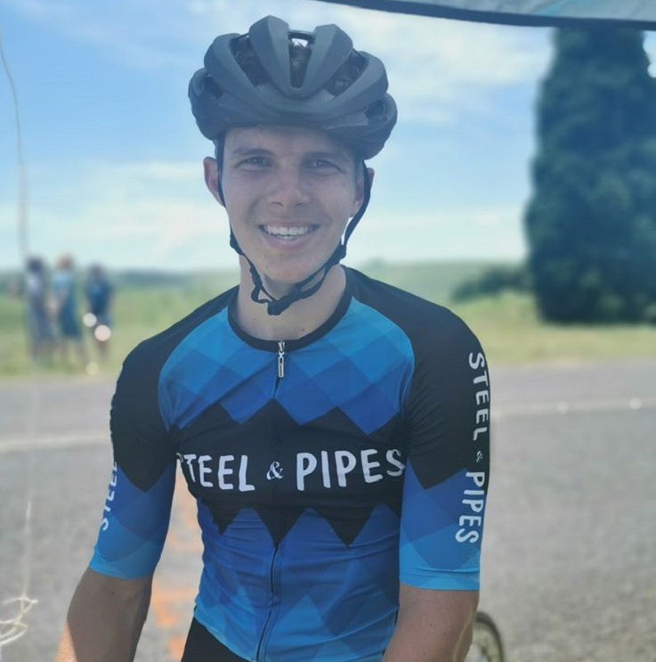 Travis Stedman won the 120km road race at the KZN Road Championships