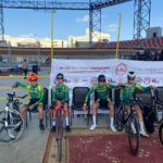 The South African junior men's team on day one of the African Track Continental Championships