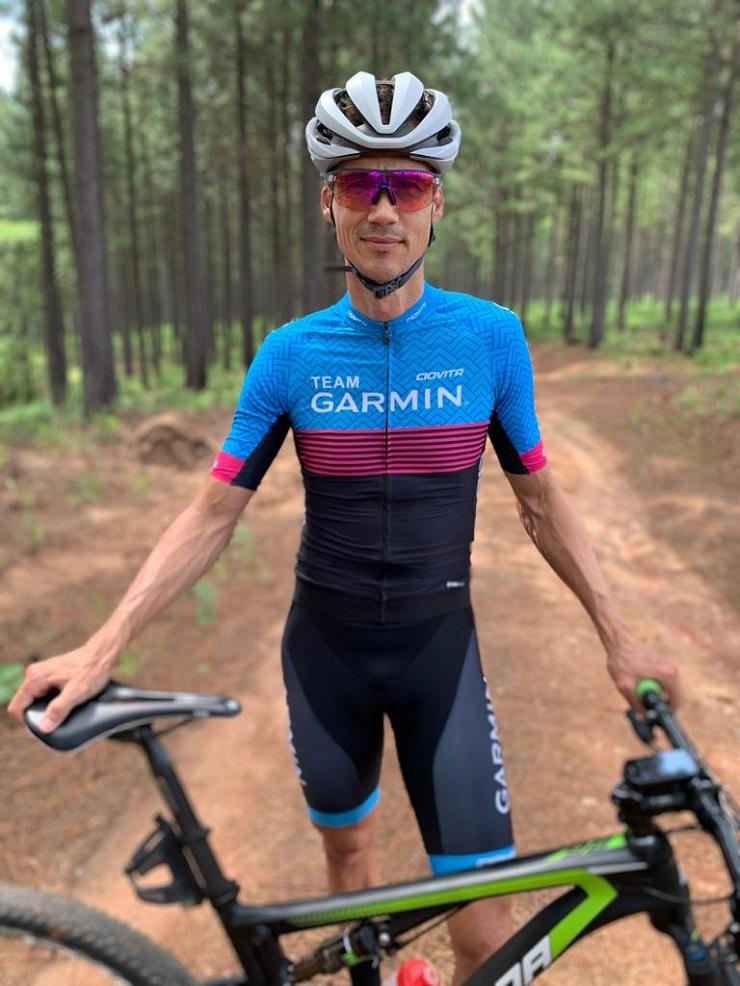 Ben Melt Swanepoel won the 160km Ride The Karoo