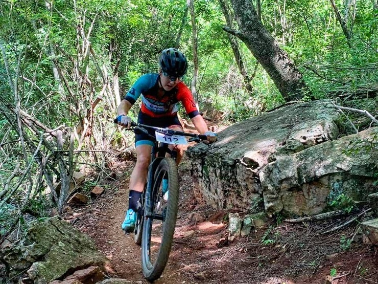 Frances Janse van Rensburg was pleasantly surprised to finish second in the first leg of the SA MTB Cup Series