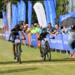 Gert Heyns (left) won the 80km Herald Cycle Tour mountain bike race