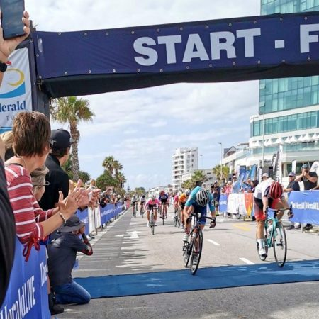 Hayley Preen sprinted to victory in her maiden Herald Cycle Tour