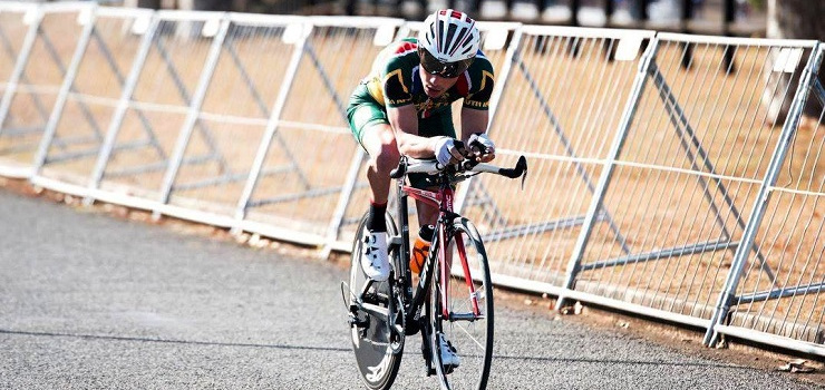 South African para cyclist Juan Odendaal