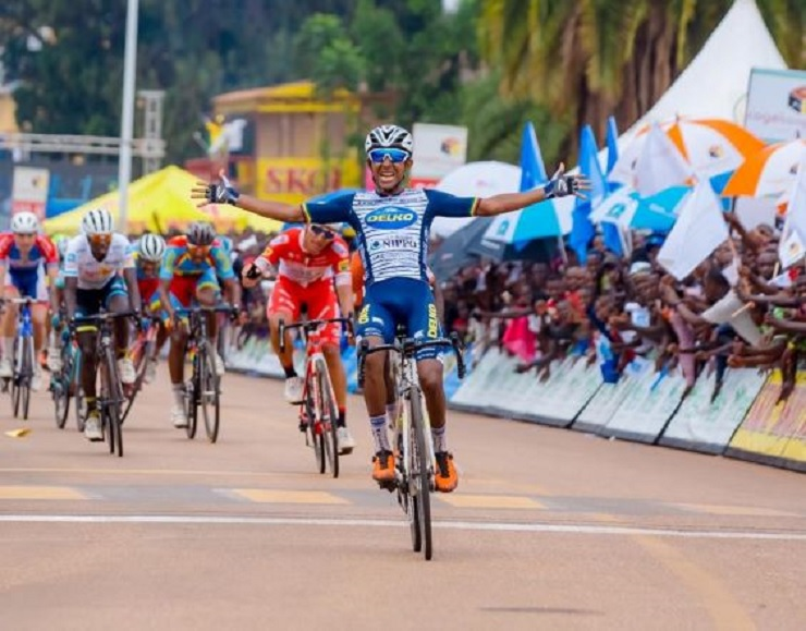 Mulu Hailemichael won stage two of the Tour du Rwanda