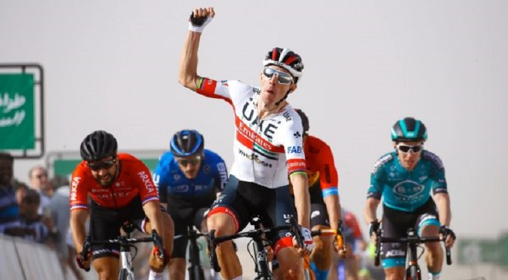 Rui Costa won stage one  of the Saudi Tour