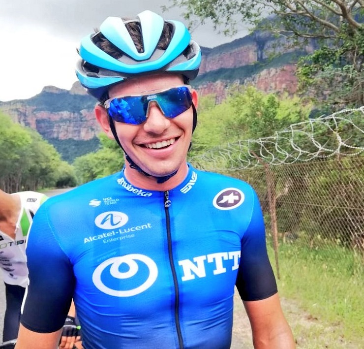 Ryan Gibbons won the elite men's road race at the SA National Road Championships