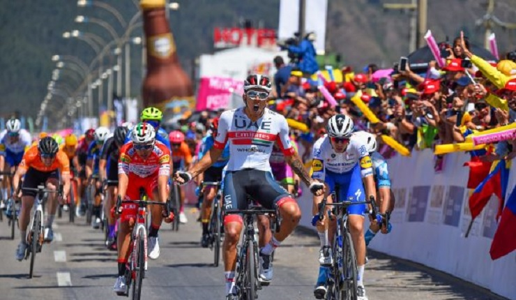 Sebastian Molano won stage two of the Tour Colombia in Duitama yesterday