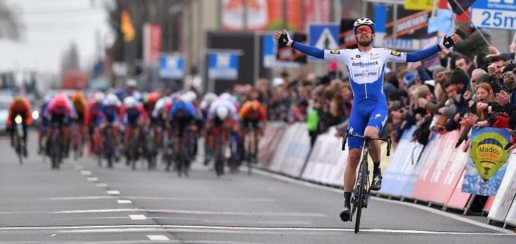 Kasper Asgreen claimed victory in the Kuurne-Brussels-Kuurn