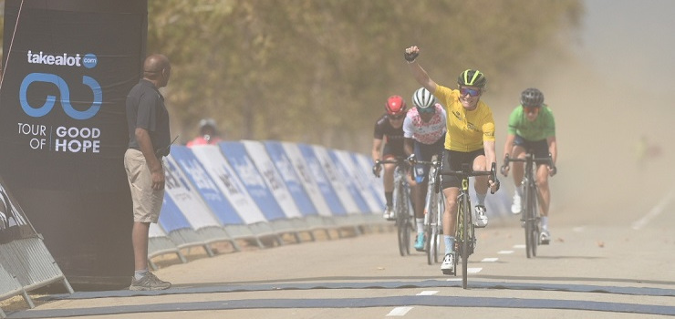 Marie-Zanne de Kock placed second overall in the Tour of Good Hope