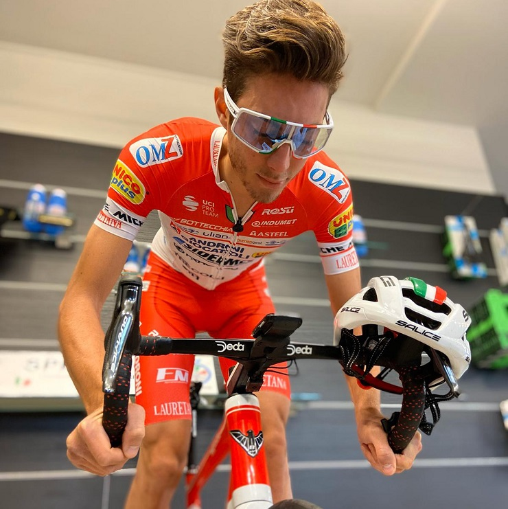 Androni Giocattoli-Sidermec's Matteo Spreafico was the fastest finisher on stage two of the Giro d'Italia Virtual yesterday.