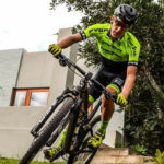 Matthys Beukes tackled a 24-hour mountain bike challenge in his garden.