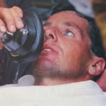 An oxygen mask was used to revive Stephen Roche when he collapsed on the finish line on stage 21 of the 1987 Tour de France.